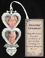 In Loving Memory Double Heart Frame Ornament