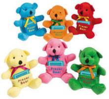 Prayer Stuffed Bear 4 1/2 Inches Tall
