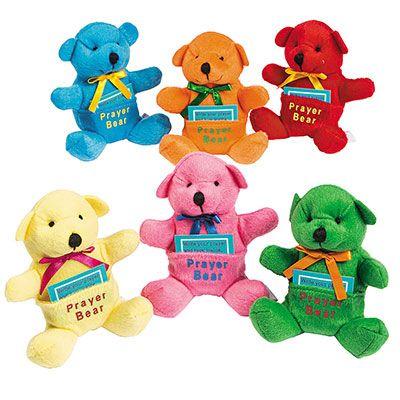 Prayer Bears Stuffed 4 1/2 Inches Tall