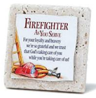 Firefighter Award Plaque Tile