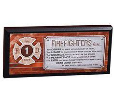 Firefighter Mini Plaque