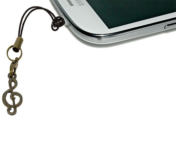 G Clef Anti-Dust Plug phone