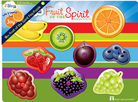 Fruits of the Spirit Peg Puzzle Christian