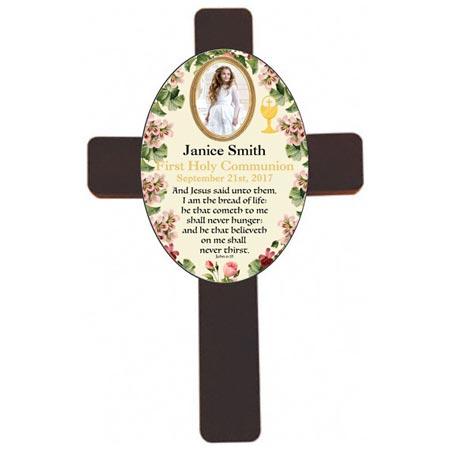 Personalized Wood Wall Communion Cross