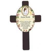 Personalized Wood Wall Communion Cross