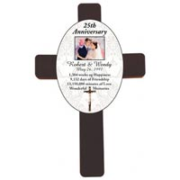 Personalized Wood Wall Anniversary Wedding Cross
