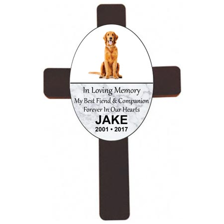 Personalized Wood Pet Memorial Wall Cross