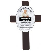 Personalized Memorial Wood Wall Cross