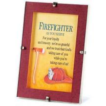 Firefighter Thankyou  Tabletop Clip Frame