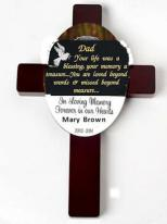 Personalized Memorial Wood Wall Cross