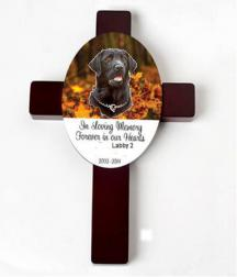 Personalized Wood Pet Memorial Wall  Cros