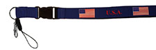 USA Flag Patriotic Laynard Heavy Duty