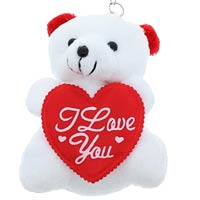 *I Love You stuffed bear Keyring
