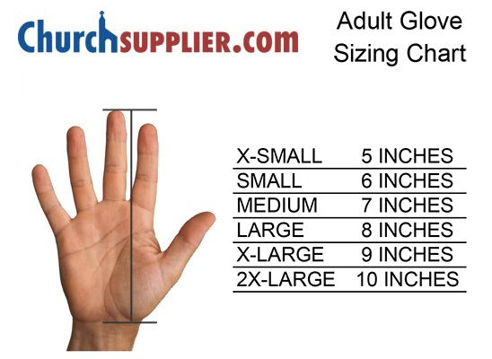 Churchsupplier glove sizing chart