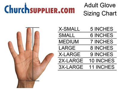 Churchsupplier glove size chart