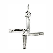 14Kt Gold St. Bridget's Cross Pendant