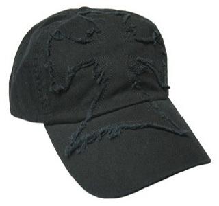 Frayed Cross Cap, Black