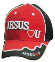 Jesus Loves (Heart) U Baseball Cap