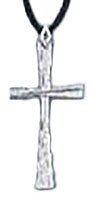 Silver Twist Cross Pendant Necklace