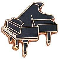 Grand Piano Lapel Pin Black