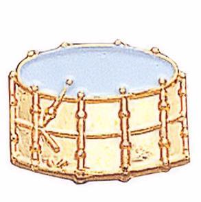 Drum Lapel Pin Gold