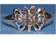 Sterling Butterfly Ring Men's & Ladies