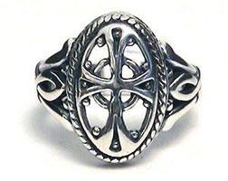 Antique Cross Sterling Silver Ring