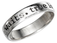 True Love Waits Purity Ring Sterling Silver Sizes