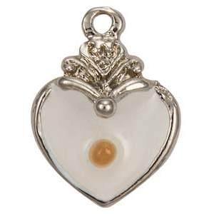 Silver Heart Mustard Seed Charm