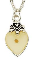 Silver  Heart Mustard Seed Necklace