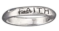 Sterling Faith Ring