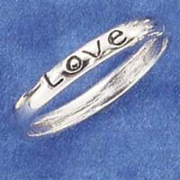 Love sterling ring ladies or girls