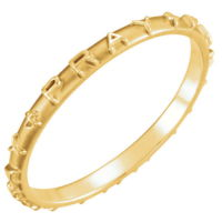 jewelry 14K Gold Pray Pray Pray Band
