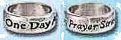 Pray or One Day Rings Silver Plated