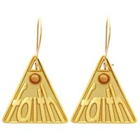 Triangle Faith Mustard Seed Earrings