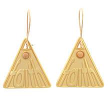 Faith Mustard Seed Triangle Earrings