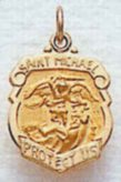 14K Gold Large Shield St. Florian Patron of Fire Fighters