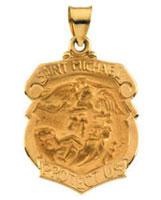St. Michael 14kt Gold Pendant