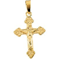 jewelry Small Crucifix 14K Gold Pendant