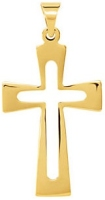 jewelry Flared Cross in Cross 14K Gold Pendant