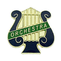 Orchestra Lyre Pin