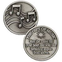 goft of music coins Pewter