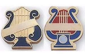 Music Lyre Pin with Ribbon for Engraving