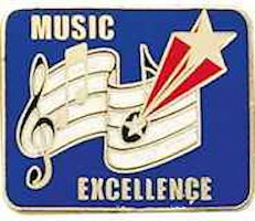 music excellance award pin