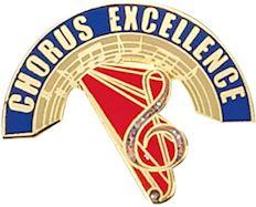 Chorus Excellence award Pin