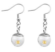 Round Globe  Mustard Seed Earrings Silver