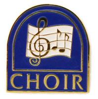 Choir Lapel Pin Church Window - Gold