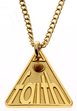 Gold Plated Faith Mustard Seed Necklace