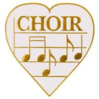 Choir Music Heart with Notes Pins - Love