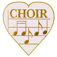 Choir Music Heart with Notes Pins - Love